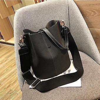 Bolsos Mujer Luxury Messenger Bags For Women - Handbag Bucket Shoulder Vintage Bag - Matte Pu Leather - Large