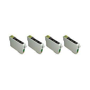 RudyTwos 4 x замена единицы чернил Epson сова черный совместимый с Stylus фото 79, 1400, 1410, 1500 Вт, P50, PX650, PX660, PX700W, PX710W, PX720WD, PX730WD, PX800, PX800FW, PX810FW, PX820FWD, PX830FW