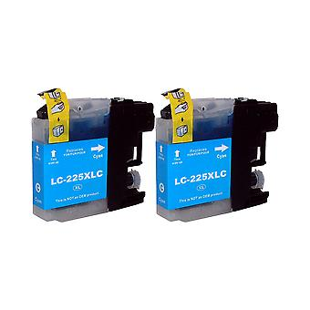 RudyTwos 2x Replacement for Brother LC-225XLC Ink Unit Cyan Compatible with MFC-J4410DW, MFC-J4510DW, MFC-J4610DW, MFC-J4710DW, MFC-J6520DW, MFC-J6720DW, MFC-J6920DW