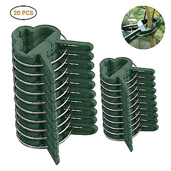20pcs Fastener Greenhouse Bracket Pole - Fixed Clamp Plants Flower Seedling