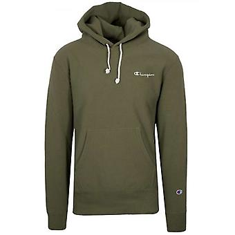 Champion Reverse Weave Green Hooded Sweatshirt