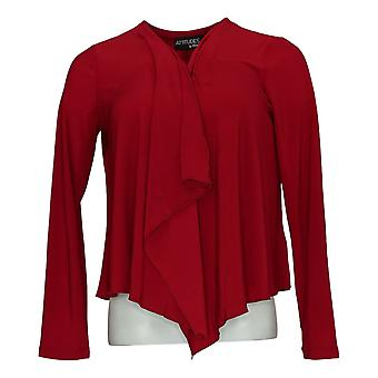 Attitudes van Renee Women's Top Regular Long Sleeve Red A306555