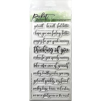 Picket Fence Studios Ways To Say Get Well Clear Stamps