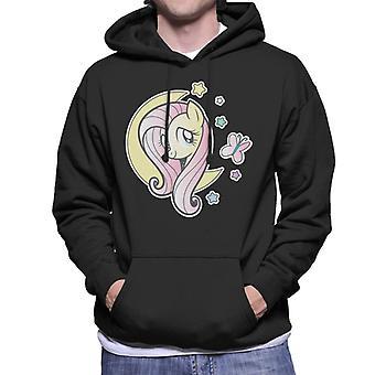 Min Lille Pony Fluttershy Halvmåne Menn's Hette Sweatshirt