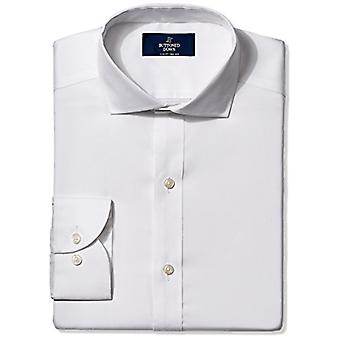 BUTTONED DOWN Men's Slim Fit Cutaway-Collar Non-Iron Dress Shirt (No Pocket),...