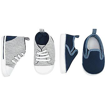 Simple Joys by Carter's Baby Boys' 2 Pack Crib Shoe Set: Soft Sole High Top S...