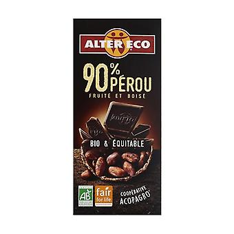 90% organic dark chocolate peru 100 g