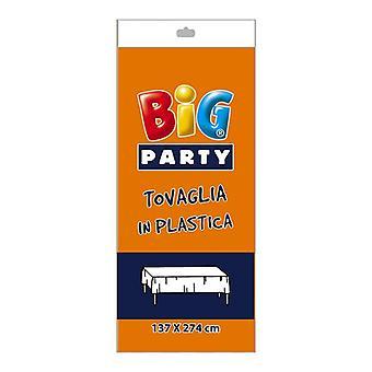Orange Kunststoff Tischdecke - 137 x 274cm Party-Dekoration