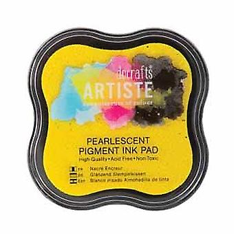 Docrafts Pearlescent Pigment Mustetyyny - Kultainen hohto