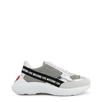 Liebe moschino ja15086 frauen's Stoff Leder Sneakers