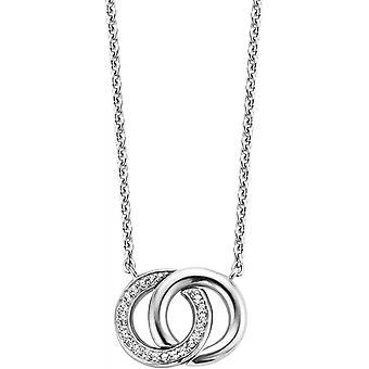 Ti Sento halsband och hänge 3822ZI - Halsband och hänge Ringar sammanflätade Silver Kvinnors Silver