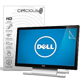 Celicious Vivid Invisible Glossy HD Screen Protector Film Compatible with Dell Touchscreen Monitor S2240T [Pack of 2]