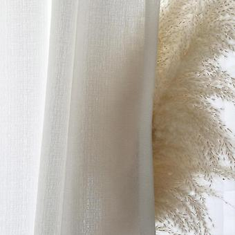 Modern Solid White Thick Tulle Decorative Window Curtains For Living Room,