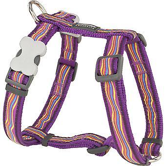 Rode Dingo verstelbare Rainbow Stripes hond harnas