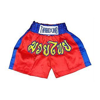Kid Boxing Short Satin Red