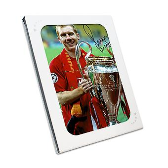 Paul Scholes Signed Manchester United Photograph: Champions League Winner. In Gift Box