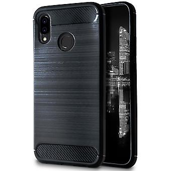 Shell for Huawei P20 Lite Black Carbon Fiber Armor Case Protection