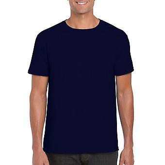 GILDAN G64000 Softstyle Men's T-Shirt in Navy Blue