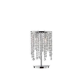 Ideal Lux Rain Clear - 2 Lamp Lamp Cromado de Mesa Leve, E14