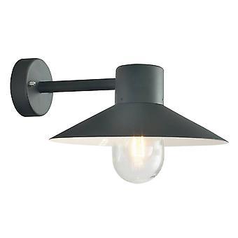 elstead - 1 lys utendørs fisker dome vegg lanterne lys svart IP55, E27