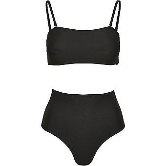 Urban Classics Kvinnors Bikini Hög Midja Bandeau