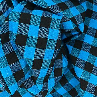 Black & bahama blue gingham parna