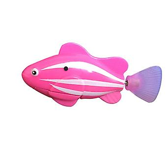 Flash Swimming Electronic Pet Robot Fish Bath Toys For Children Kids - Battery Powered Swim Robotic Fishing Nemo Decoration