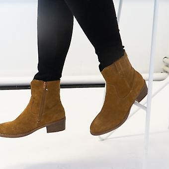 Hush Puppies Iva Ladies Suede Ankle Boot Tan