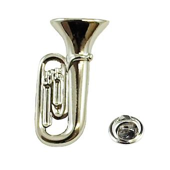 Ties Planet Silver Tuba Muziekinstrument Lapel Pin Badge - Rhodium Plated
