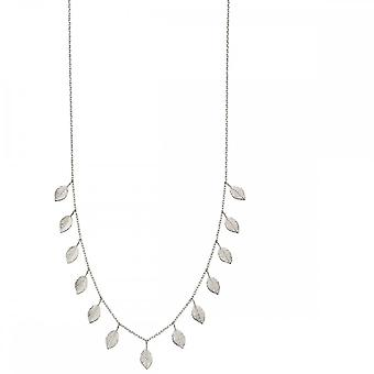 Elements Silver Leaf Necklace N4293