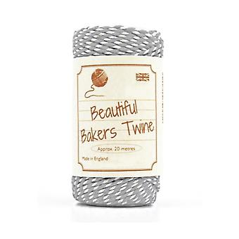 20m Silver Grey Natural Bakers Twine for Crafts & Gift Wrapping