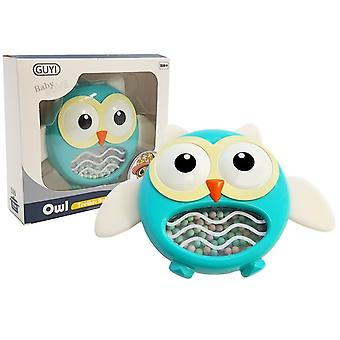 Owl Rattle Bites Children's Toy Blue