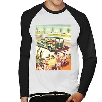 Morris Traveller Summer British Motor Heritage Men's Baseball Long Sleeved T-Shirt