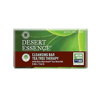 Desert Essence Tea Tree Therapy Cleansing Bar Soap, 5 oz