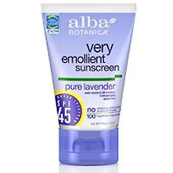 Alba Botanica SunBlock Lotion, Lavendel Spf 45 4 un