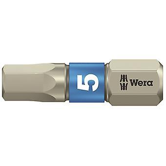 Wera 3840/1 TS Vsäytys ruostumaton teräs terä kuusio 5,0 x 25mm WER071075