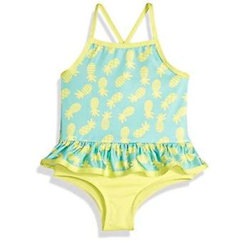 Rosa Platin Kleinkind Mädchen' Pinneapple Print ein Stück Badeanzug, gelb, 2 t