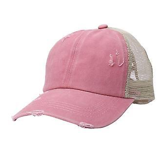 Women Tennis Sport Cap, Messy Bun Mesh Hats, Adjustable Sport Running/cycling