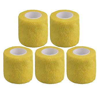5PCS Breathable Cohesive Bandage Self-Adherent Athletic Tape Width 5cm