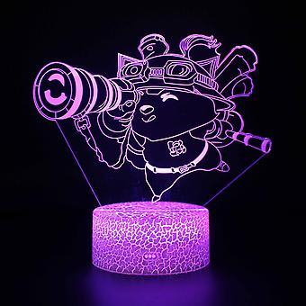 3D Touch Light Night 7 Farben mit Fernbedienung - Style #782