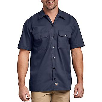 Dickies 1574 Short Sleeve Work Shirt Navy Blue
