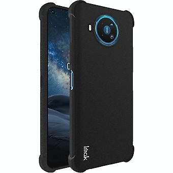 For Nokia 8.3 5G IMAK All-inclusive Shockproof Airbag TPU Case with Screen Protector(Matte Black)