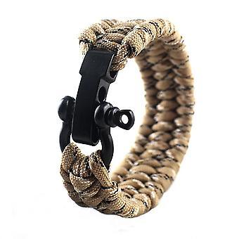 Taktiska flätade Survival Paracord Armband