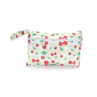Mini Nasstasche wiederverwendbar für Pflege, Menstruationspads, Waterptoof, Pul Snap Griff,