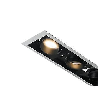 Geïntegreerde LED Triple Verzonken Downlight verstelbaar, wit zwart, 3000K