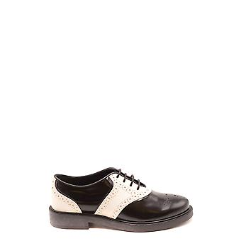 Tod's Ezbc025167 Women's White/black Leather Lace-up Shoes