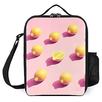 الليمون على الوردي أكياس الغداء المطبوعة