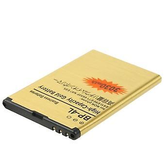 3030mAh BP-4L High Capacity Gold Battery pour Nokia E63 / E61I / E90 / E71 / 6650F / N97 / E95