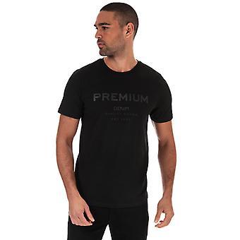 Men's Jack Jones Tonal Logo T-Shirt en Noir