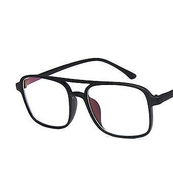 Quadratische Gläser Rahmen Männer, Brillen Anti Blaues Licht Transparent